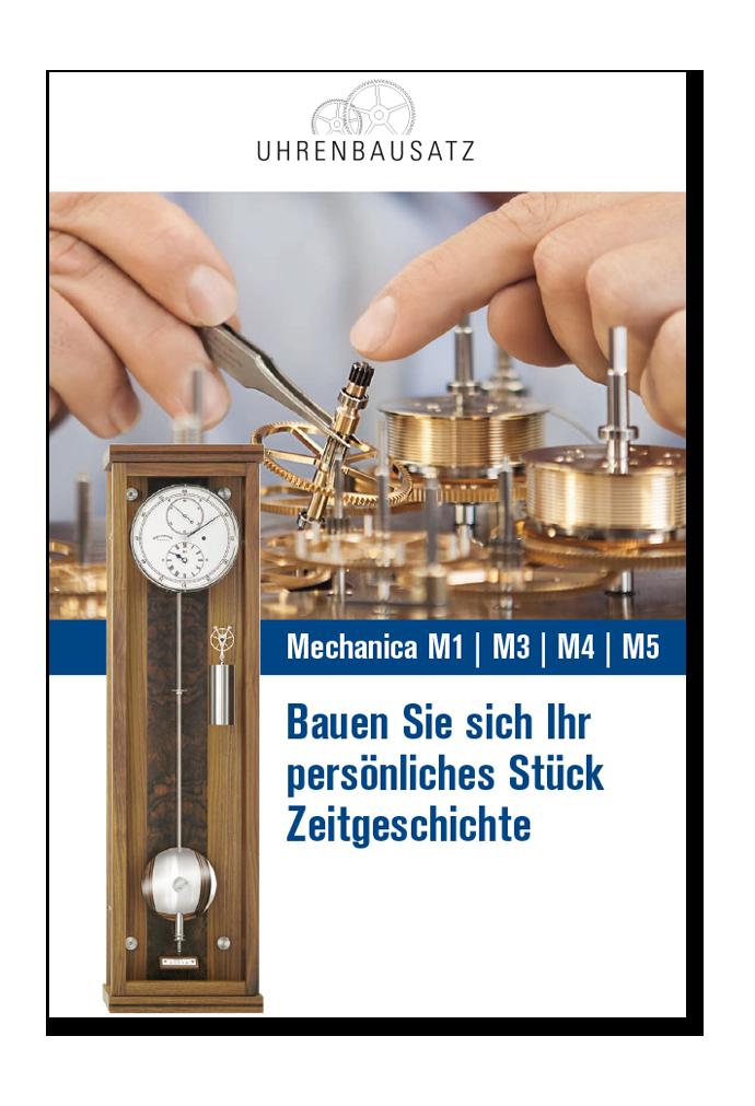 Uhrenbausatz Broschüre